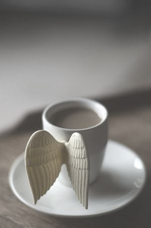 coffee gives you wings...