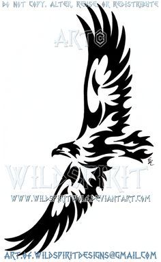 This is Wolf's completed design, one of four, this one of a tribal soaring eagle. I do apologize for the obnoxious watermarks but they have been put in place to help cut down on the prolific theft ...