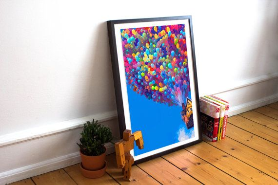 Up  Art Poster Print  Balloon House  Up Pixar  by HarknettPrints