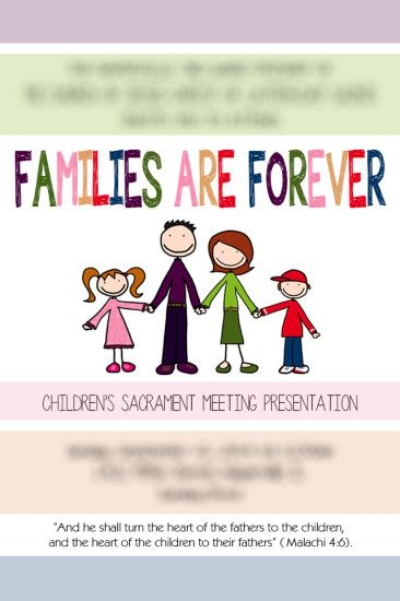 2014 Primary Program Invitations - Families Are Forever, editable, printable