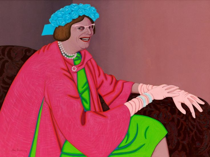 Barry Humphries in the character of Mrs Everage, (1969) by John Brack   Australian