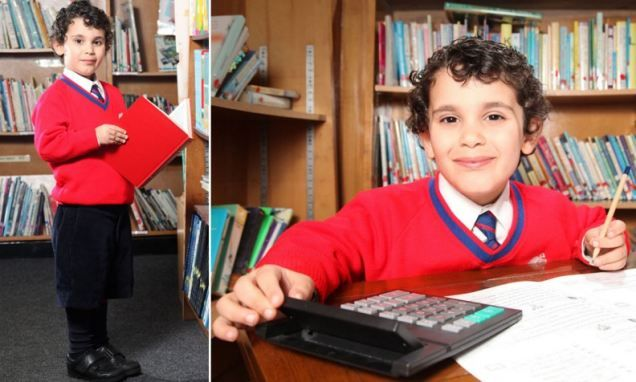 At the age of four, he's already been made a member of Mensa and achieved fame for his intellect. But that wasn't enough for Sherwyn Sarabi (pictured) from Barnsley, South Yorkshire.