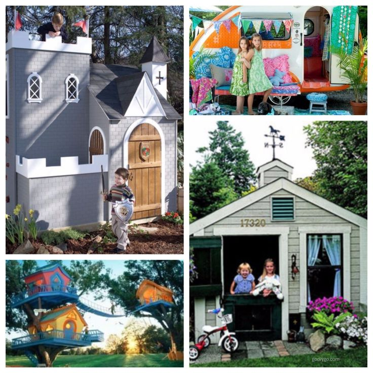 fine 46 Fabulous Backyard Playhouse to Delight your Kids http://godiygo.com/2017/12/19/46-fabulous-backyard-playhouse-delight-kids/