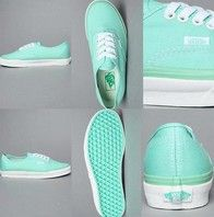 mint vans, if I got these for my birthday that'd be cool!