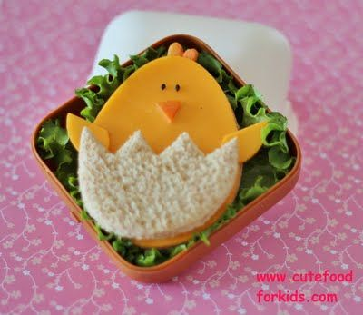 How to make an Easter Chick sandwich (Shape people - not an actual baby chick)