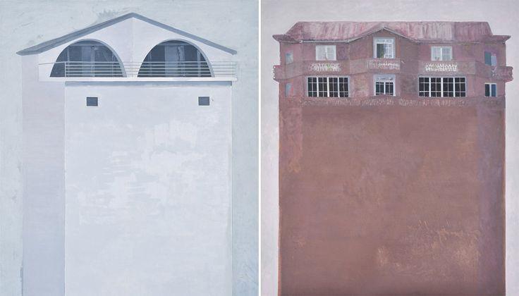 Potential Monuments. Edi Hila, Penthouse, 2013. Padiglione Albania, Architecture Biennale 2014
