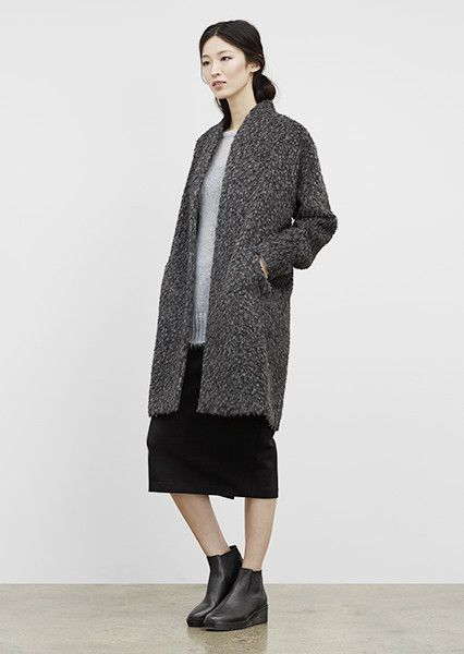 EILEEN FISHER New Arrivals: Cocoon Coat, Ponte Skirt + Chelsea Bootie