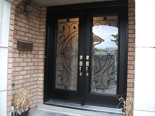 Double Entry Doors Fiberglass 38 best wrought iron fiberglass doors images on pinterest