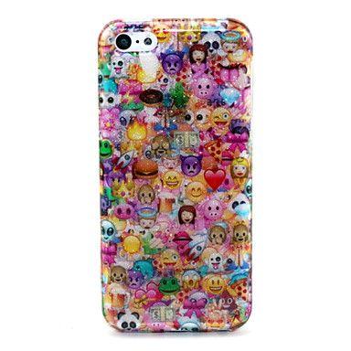 mooie gezicht patroon glitter TPU mobiele telefoon zachte shell voor iPhone 5c – EUR € 3.09