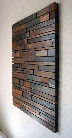 Arte de pared de madera por RusticWarmthDecor en Etsy