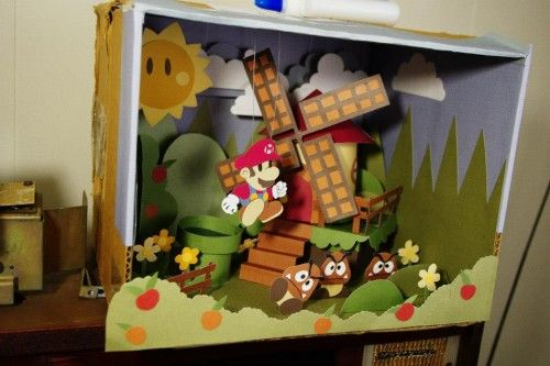 Paper Mario Sticker Star diorama by Dominik K. image  Too cool