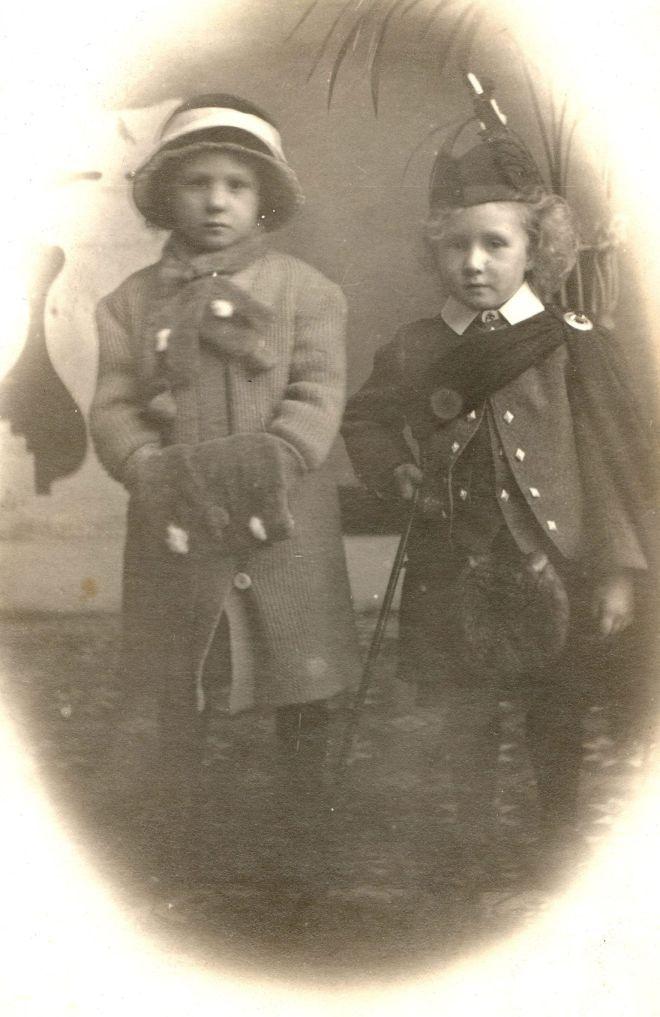 My grandmother Margaret Cruden and her younger brother Stuart, Studio portrait taken around 1912-1913