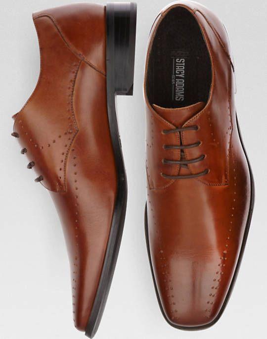 Stacy Adams Tan Bike Toe Lace Up Shoes - Dress Shoes | Men's Wearhouse - mens business shoes, nice casual mens shoes, mens saddle shoes