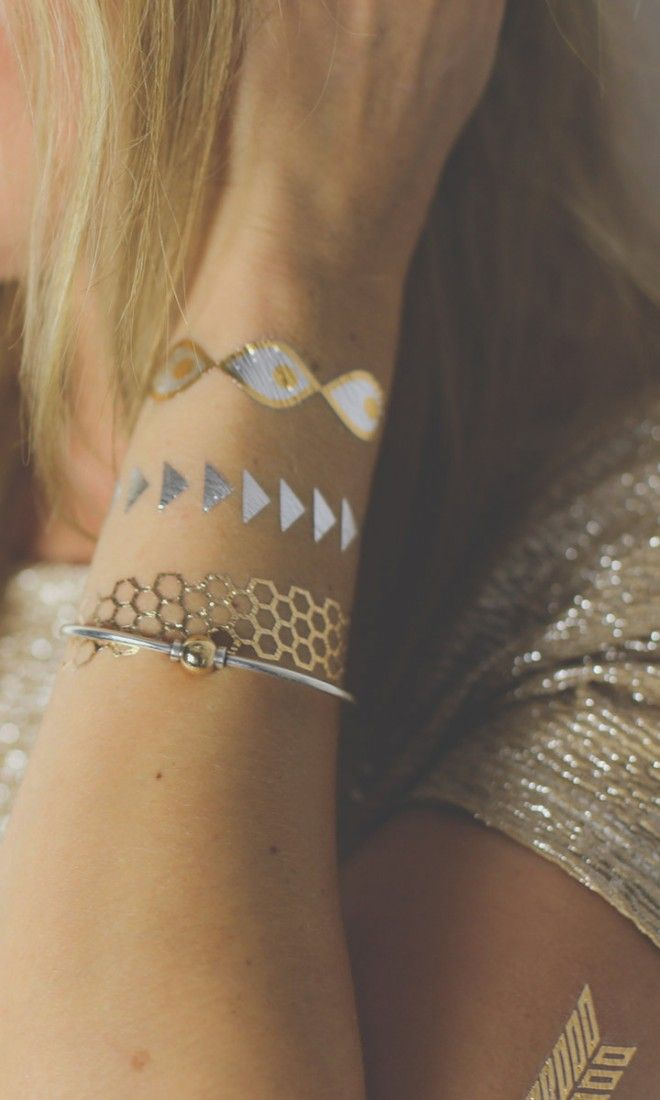 161 Best Temporary Metallic Tattoos Images On Pinterest