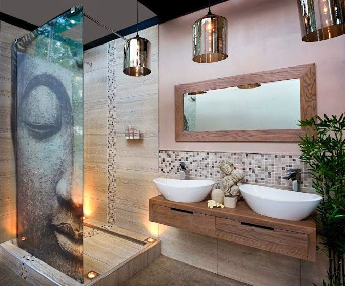 Beautiful My Dream Bathroom😍 Asian Master Bathroom With Floating Vanity, Shower  Screen By Bathroom Bizarre, Kingston Brass Oval Vitreous Sink Nice Ideas
