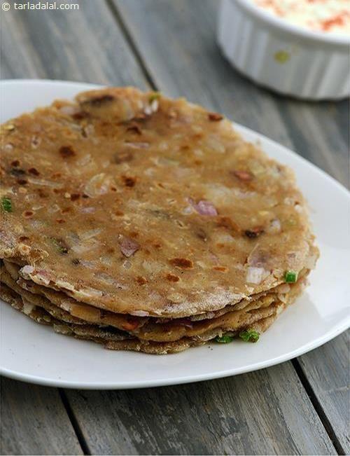 Pyaz Aur Phudine ki Roti Or How To Make Onion and Mint Roti Recipe recipe