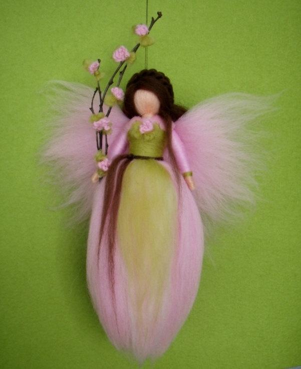 Felted wool Fairy Doll