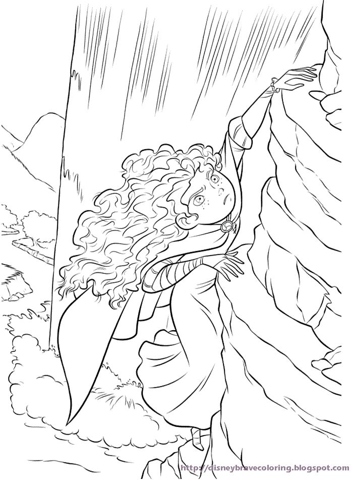 Free Printable Merida Coloring Pages Activity Sheets And Brave Party Invitations Featuring