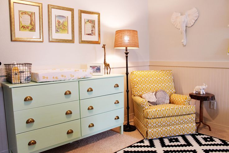 Eclectic nursery, unisex nursery, fun and bright nursery, nursery design, DIY nursery, inexpensive nursery design, www.twineinteriors.com