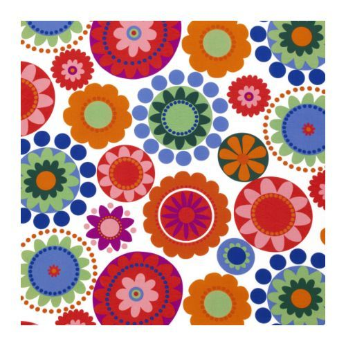 Inspiration maybe this bright fabric instead of peacock? -- bright fabric  ikea