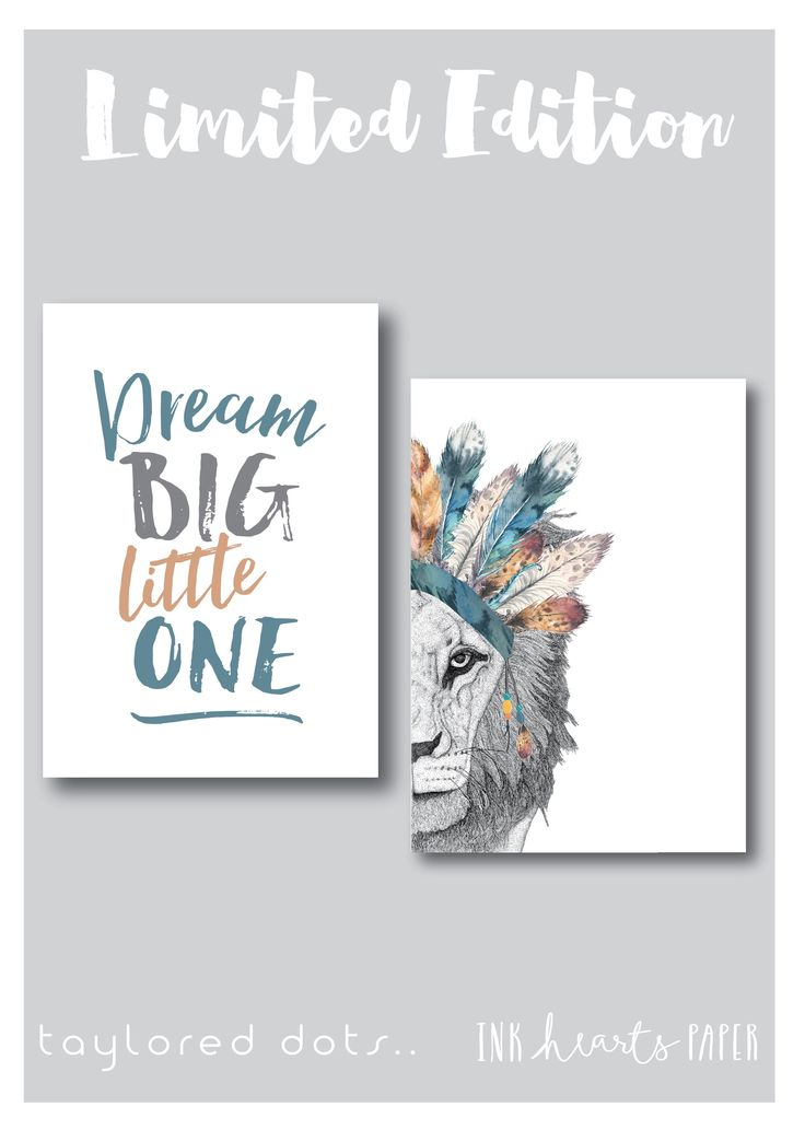 LIMITED EDITION - Leo The Lion / Dream Big Little One *COMBO*