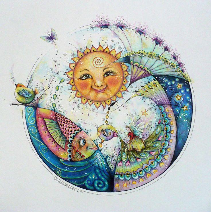 De sleutel naar vrede is de vrede in een ieder van ons afzonderlijk - Claudia Philippo   art by Fransien de Vries - Blog