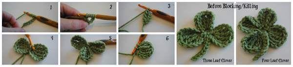 Pasos Para La suerte del Irlandés pattys Día empavesado crochet GRATIS patrón # cre8tioncrochet