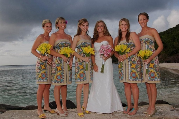 Love these bridesmaid dresses so creative on flamenco for Wedding dresses puerto rico