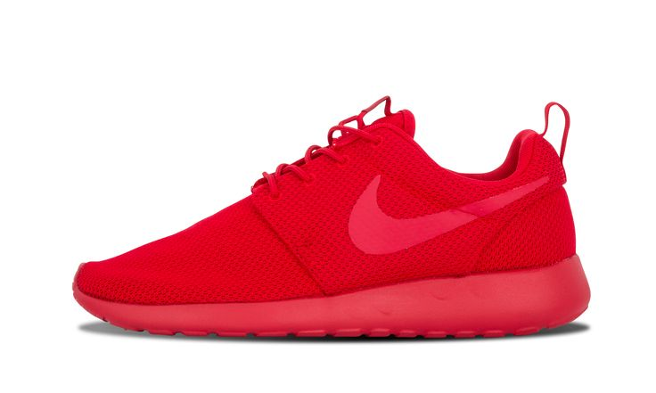 All-red-everything is the formula for this edition of the Nike Roshe Run, following the hot tonal trend with nothing but Varsity Red from top to bottom. Roshe One SKU: 511881 666 Color: Red Release Date: 10/22/15