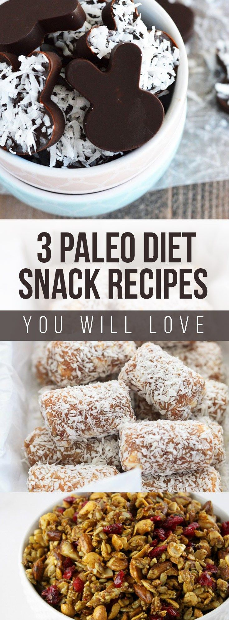 Amazing Paleo Diet Recipes - 3 paleo snacks