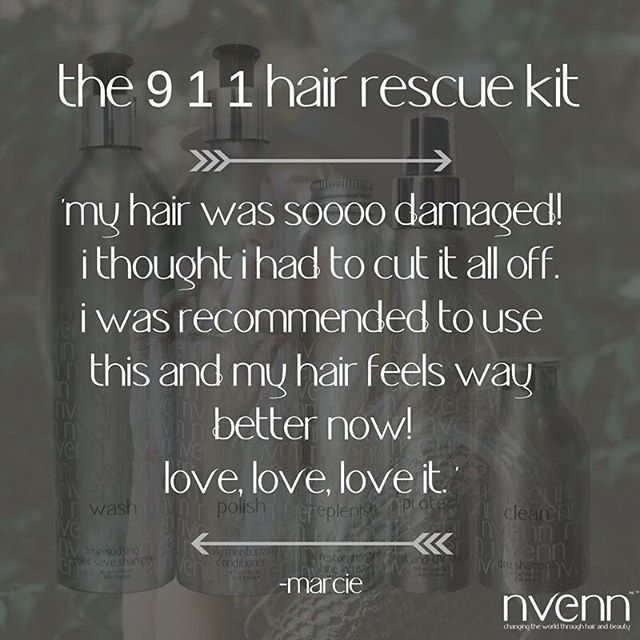we love hearing what our customers have to say about our products <3   is your hair damaged? call on the 9-1-1 hair rescue kit for hair REJUVENATION from home! https://goo.gl/JpDDwE    #repairyourhair #repairblondehair #naturalhaircare #sulfatefree #crueltyfree #salons #bbloggers #yychair #yeghair #beauty #style #stylists