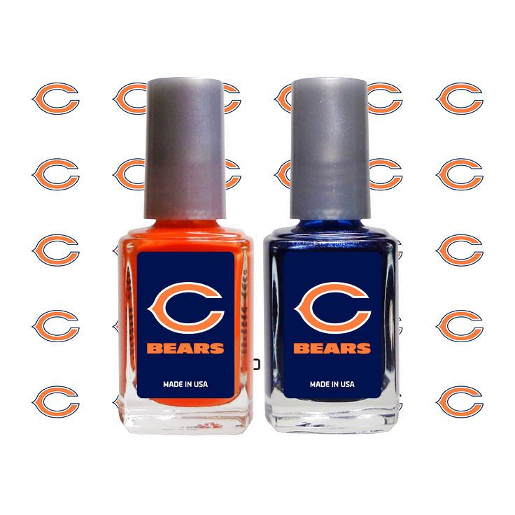 Chicago Bears 2-Pack Nail Polish and Decal Set - $10.39