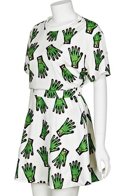 ROMWE | Skeleton Hands Skirt Set, The Latest Street Fashion #Romwe