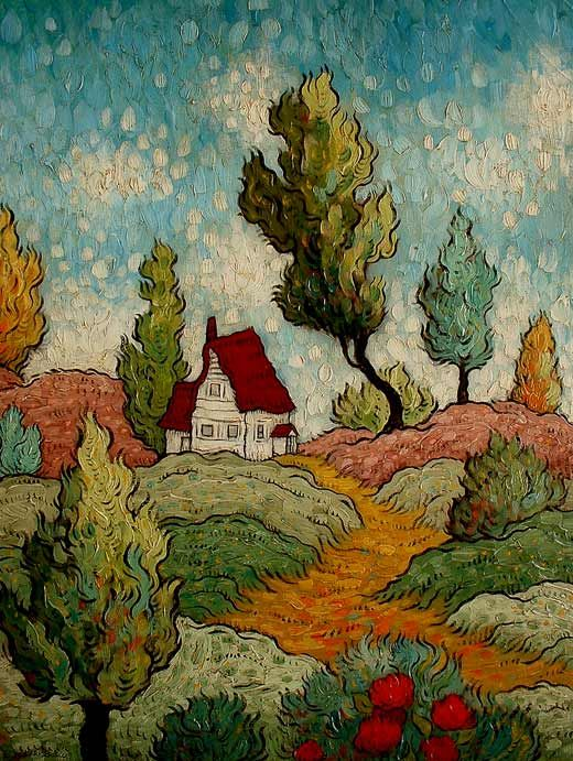 Artist Mark Briscoe, original impressionist landscapes, expressionist paintings, Chinoiserie painted furniture