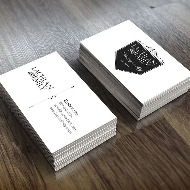 Lachlan & EmilyPhotography - business card and branding design