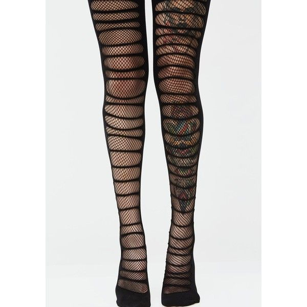 Fishnet Layered Black Tights ($12) ❤ liked on Polyvore featuring intimates, hosiery, tights, ripped stockings, fishnet pantyhose, leg avenue hosiery, leg avenue stockings and fishnet stockings