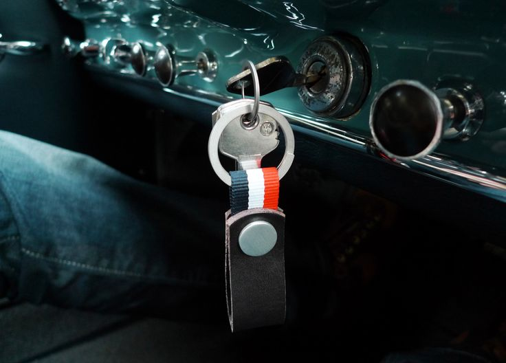 www.877workshop.com — Keychain leather Nato blue white red