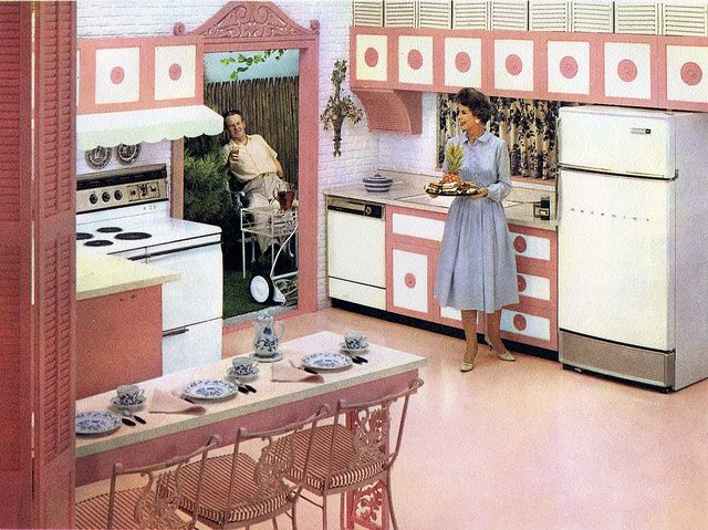 186 best vintage kitchens images on pinterest fine for Kitchen designs vintage
