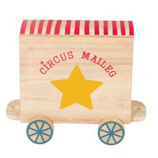 MAILEG CIRCUS WAGON FOR ANIMALS - $54.95 - The Maileg collection has a unique authentic look and touch created by designer Dorthe Mailil.  #sweetcreations #kids #gifts #maileg #circus