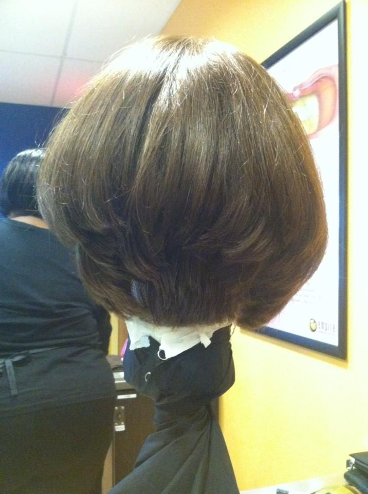 The Bob Haircut With A 45 Degree Stack In The Back A S M