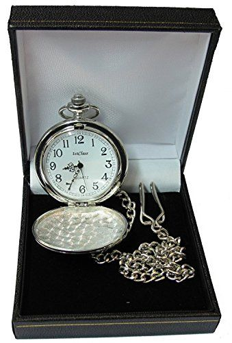 Lucy G Engraved Personalised Pocket Watch in Gift Box 18th/21st/30th/40th/50th/60th/65th/70th Birthday/Best Man/Wedding Gift - Royal Hub