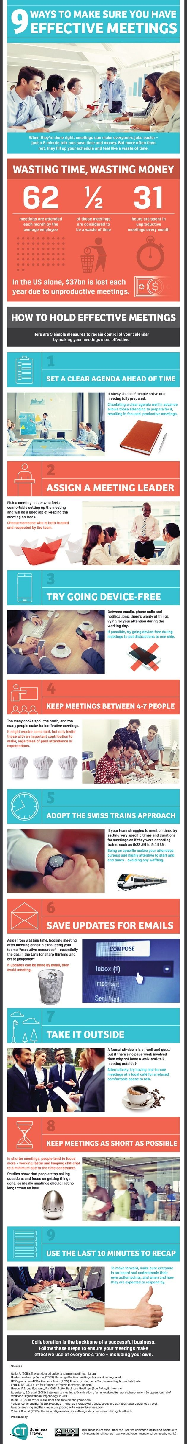 Kick those wasteful meetings to the curb. This infographic provides nine ways to make them effective.
