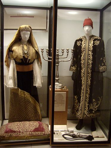 Jewish festival or wedding attire, Museo Sefardi at Synagoga del Transido in Toledo, Spain.     |   museo sefardi by defenestr8or, via Flickr