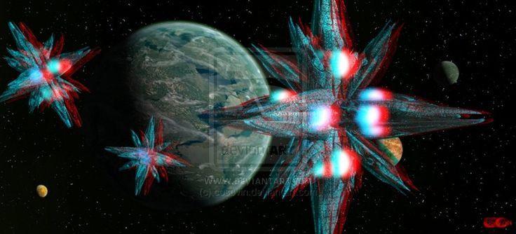 Stars of the Universe around the planet Artemis_3 by cosovin.deviantart.com on @DeviantArt