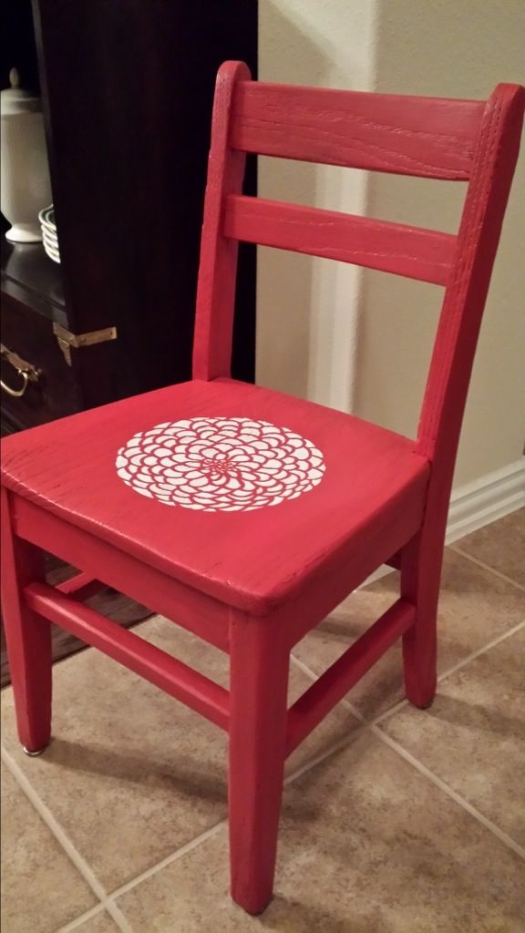 painted childs chair chalk