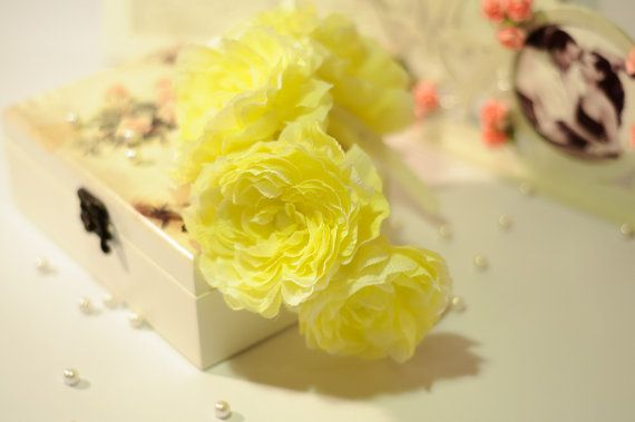 Yellow flower crown // bridal wedding floral by PalchukArtStudio
