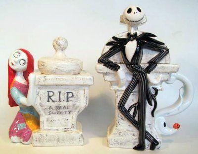 Jack Skellington with Zero creamer & Sally sugar bowl set