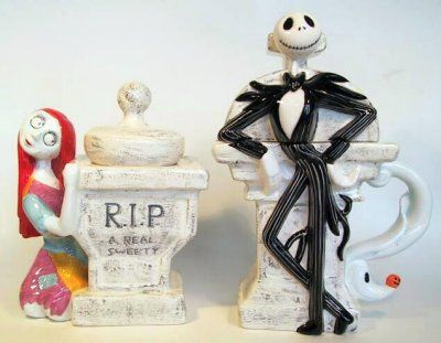 Jack Skellington with Zero creamer & Sally sugar bowl set