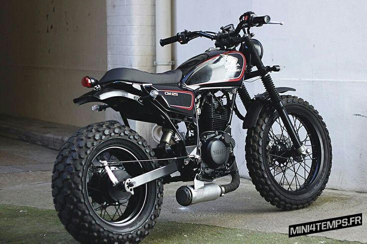 les 58 meilleures images du tableau moto yamaha tw 125 custom sur pinterest projets motos et. Black Bedroom Furniture Sets. Home Design Ideas
