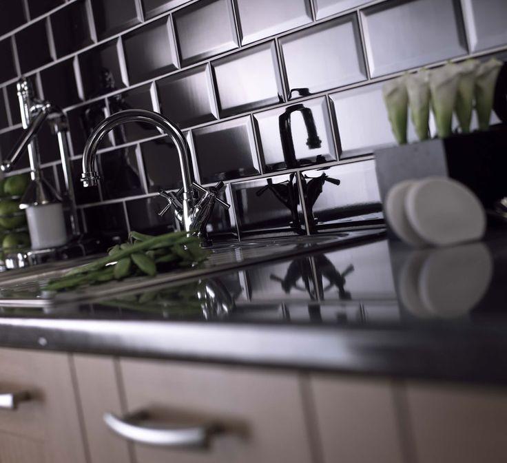 Black Gloss Kitchen Floor Tiles: 48 Best Images About Splashbacks On Pinterest